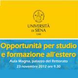 Immagine opportunità per studio e formazione all'estero