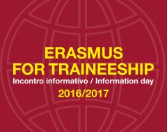 Erasmus for traineeship a.a. 2016-2017