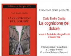 """Presentazione della nuova edizione de """"La cognizione del dolore"""" di Carlo Emilio Gadda"""