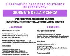 Giornate della ricerca al dipartimento di Scienze politiche e internazionali