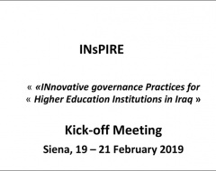 "Kick-off Meeting progetto ""InsPire"""