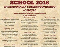 "Summer School in ""Democracia e Desenvolvimento"""
