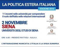 seminario politica estera italiana