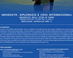 """""""Università, diplomazia e crisi internazionali"""""""