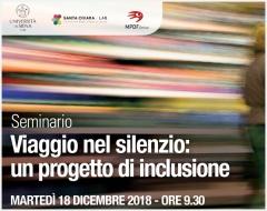 """Seminario: """"Viaggio nel silenzio: un progetto di inclusione"""""""