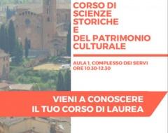 accoglienza delle matricole del corso di laurea in Scienze storiche e del patrimonio culturale