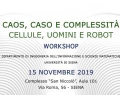 """Workshop """"Caos, caso e complessità"""""""