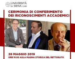 Cerimonia di conferimento dei riconoscimenti accademici