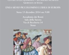"""locandina """"Enea Silvio Piccolomini e l'idea di Europa"""""""