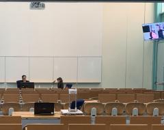 Prima discussione di una tesi di dottorato a porte chiuse e in diretta streaming