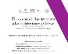 """""""El acceso de las mujeres a las instituciones políticas"""""""