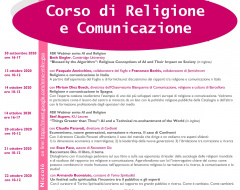 Corso di Religione e Comunicazione