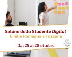 L'Ateneo al Salone dello studente Digital Emilia Romagna e Toscana
