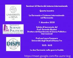 Seminari di storia del sistema internazionale