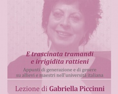 Lezione della professoressa Gabriella Piccinni