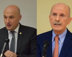 Il rettore Frati e il direttore generale dell'Azienda ospedaliera universitaria senese, Valtere Giovannini
