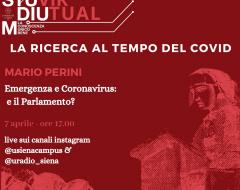 """""""Emergenza e coronavirus: e il Parlamento?"""" con il prof. Mario Perini"""