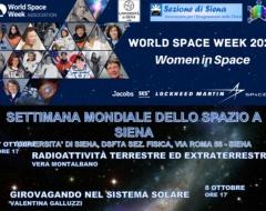 Settimana mondiale dello spazio a Siena