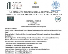 """Convegno """"La giornata europea della giustizia civile"""""""
