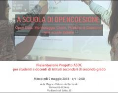 """progetto """"A scuola di OpenCoesione"""""""