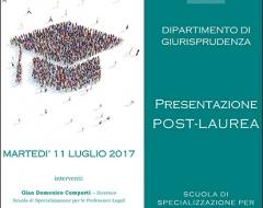 Presentazione offerta post-laurea del dipartimento di Giurisprudenza