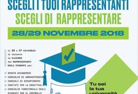 elezione rappresentanze studentesche per il biennio 2018-2020