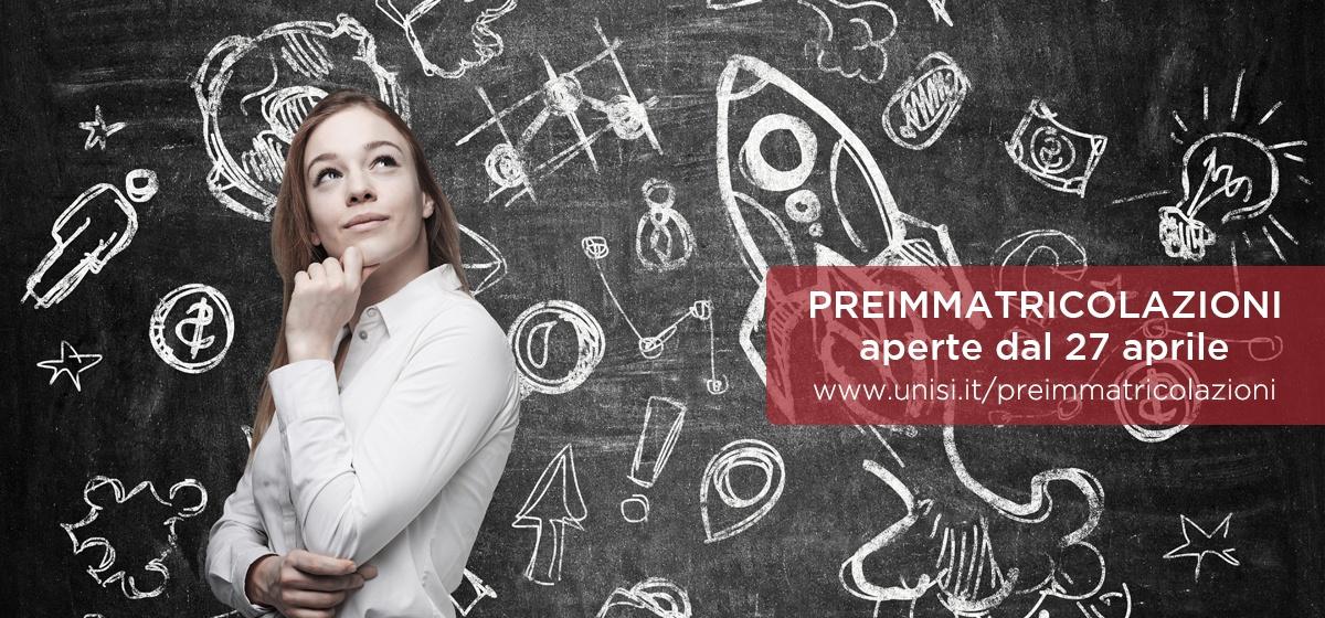 Apertura preimmatricolazioni 2018-2019