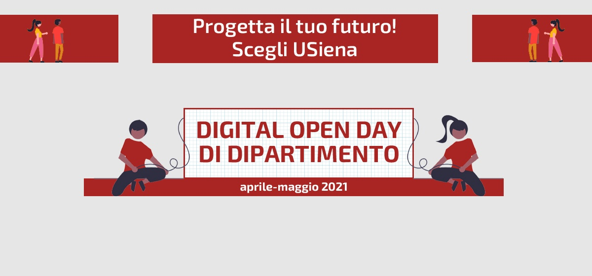 Digital open day di dipartimento - 2021