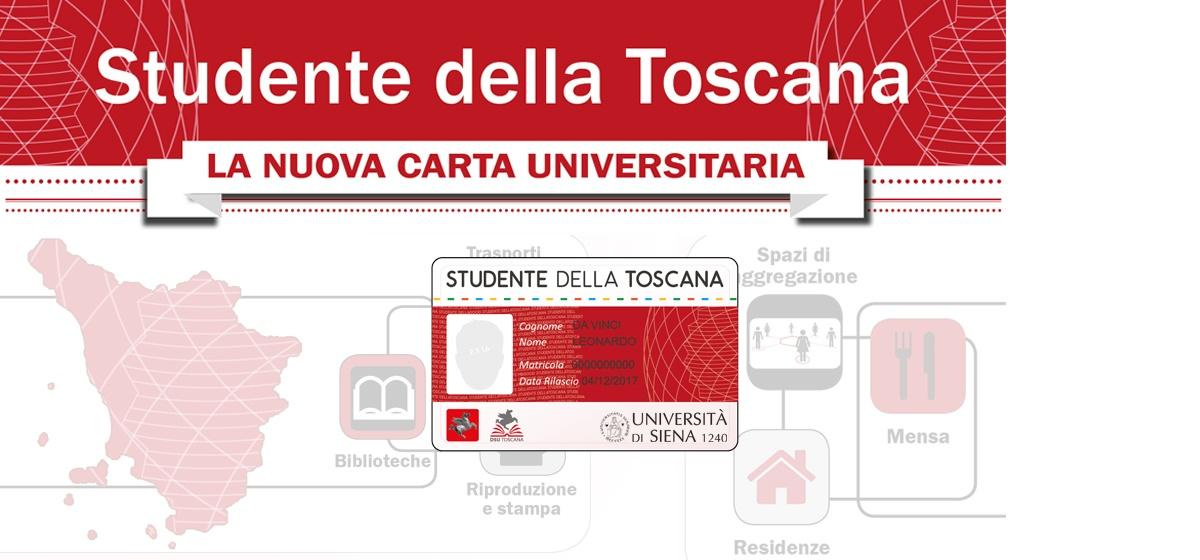 """Carta unica regionale """"Studente della Toscana"""""""