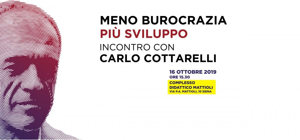 """Incontro con Carlo Cottarelli """"Meno burocrazia più sviluppo"""""""