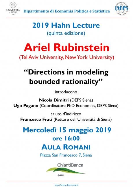 Lezione di Ariel Rubinstein
