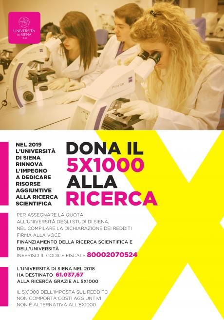 5x1000 alla ricerca Università di Siena