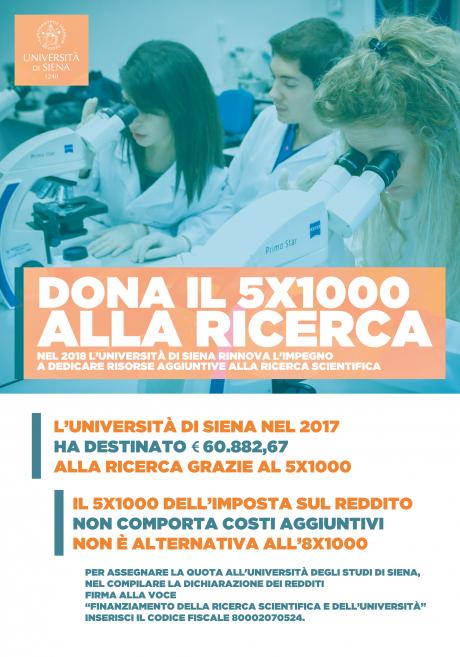 locandina 5x1000 Università di Siena
