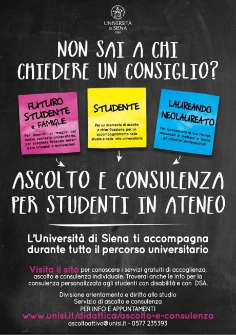 Ascolto e consulenza personalizzata per studenti in Ateneo