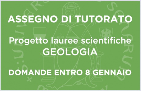 Bando per 1 assegno di tutorato: progetto lauree scientifiche - Geologia