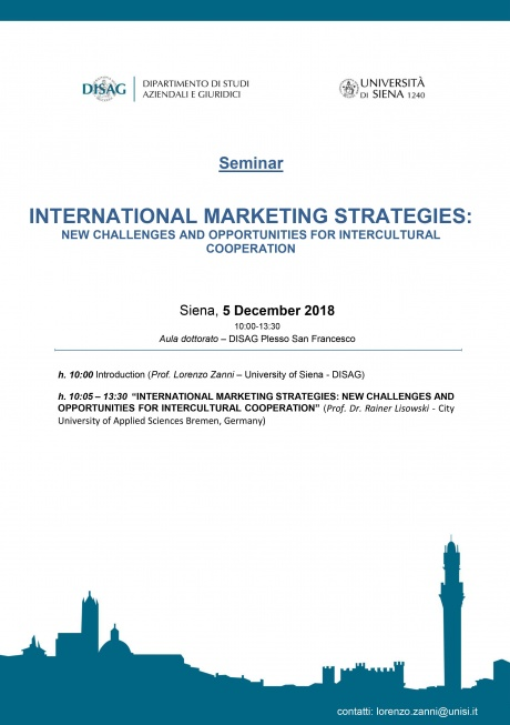 "Seminario ""International Marketing Strategies"""