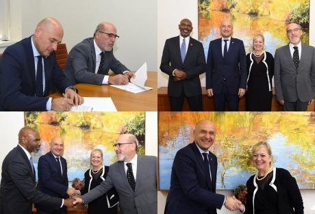 La firma dell'accordo di collaborazione con il St. John's College di New York