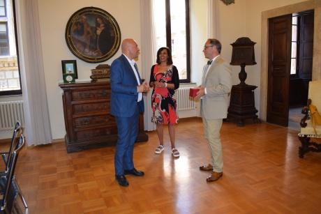 Il rettore e la dott.ssa Poggialini incontrano il presidente dello Iona College