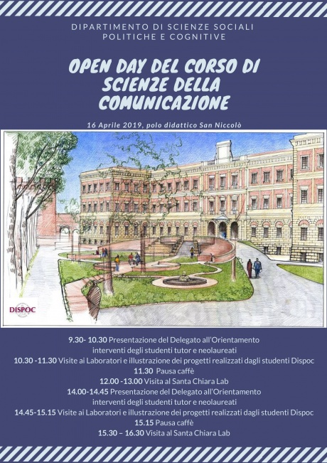 Open Day del dipartimento di Scienze sociali, politiche e cognitive - Scienze della comunicazione