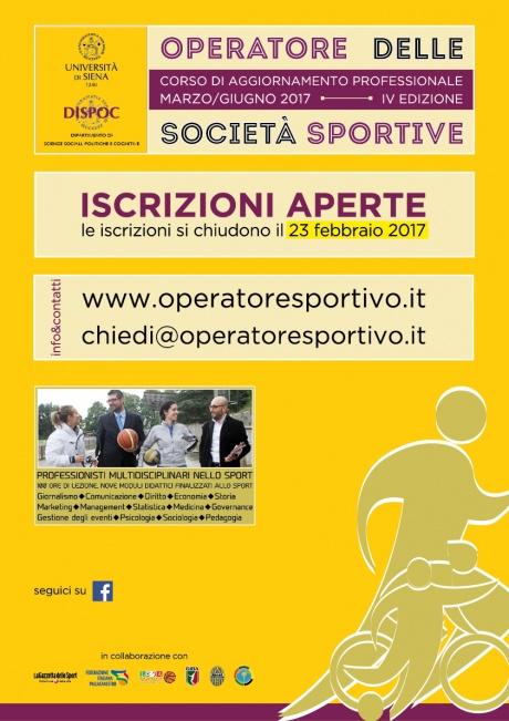 corso Operatore società sportive