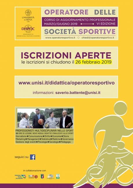 """Corso aggiornamento professionale in """"Operatore delle società sportive"""""""