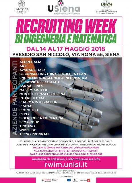 Recruiting week di Ingegneria e Matematica