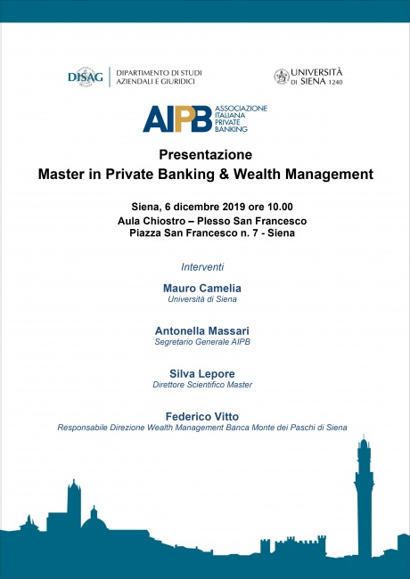 Presentazione Master in Private Banking & Wealth Management