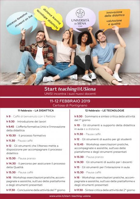 11-12 febbraio: Start teaching@Usiena