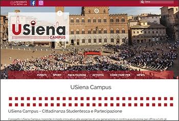 Nuovo portale USIENA CAMPUS - Cittadinanza Studentesca e partecipazione