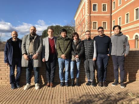 Università di Siena foto team con prof. Barni - PRIN 2017