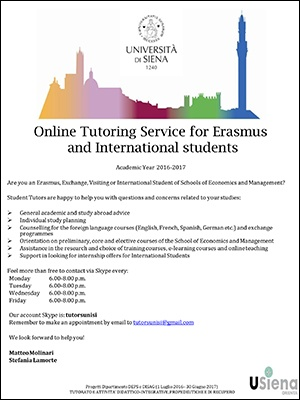 Opportunities for Erasmus and International students