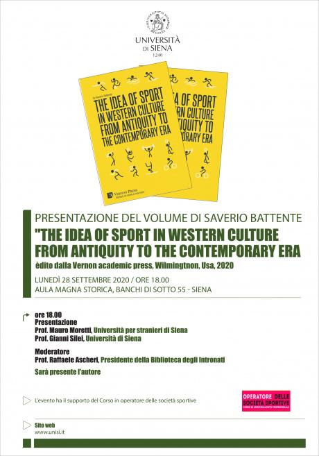 """Presentazione del volume del prof. Saverio Battente """"The idea of sport in western culture from antiquity to the contemporary era"""""""