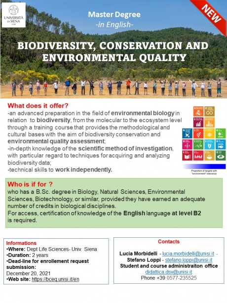 Biodiversity, Conservation and Environmental Quality