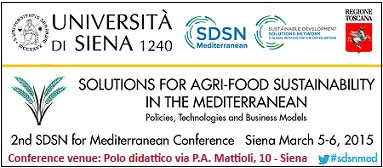 """""""Solutions for Agri-food Sustainability in the Mediterranean. Policies, technologies and business models"""""""